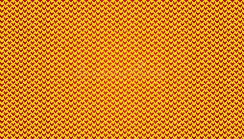 Mikro Deseniuje V tła prostą Deseniową ilustrację w żółtym i czerwonym kolorze obrazy royalty free