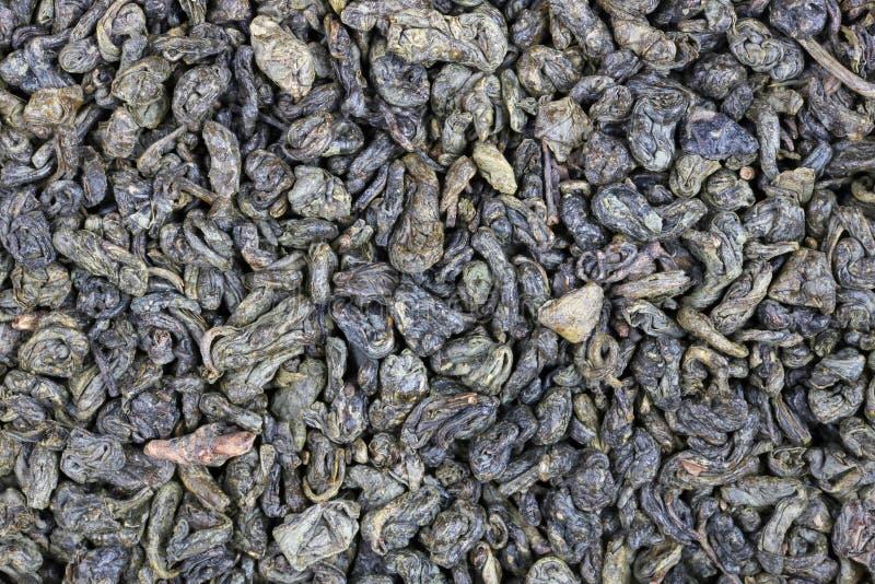 Mikro granule sucha elita zielona herbata obraz royalty free