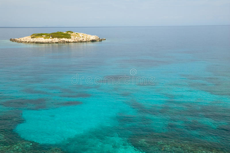 Download Mikro Island stock photo. Image of clouds, panorama, green - 24840898