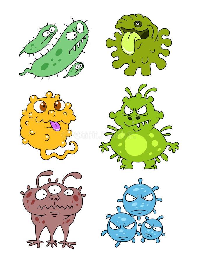 Mikrobensammlungsteil zwei lizenzfreie abbildung
