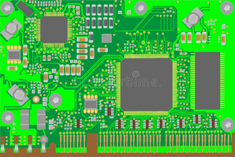 mikrochip lizenzfreie abbildung