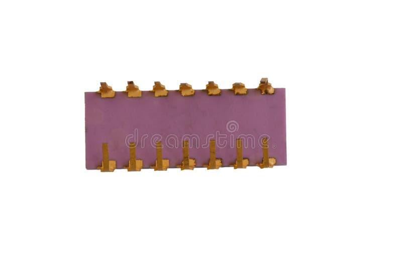 Mikrochip auf dem Weiß lizenzfreies stockfoto