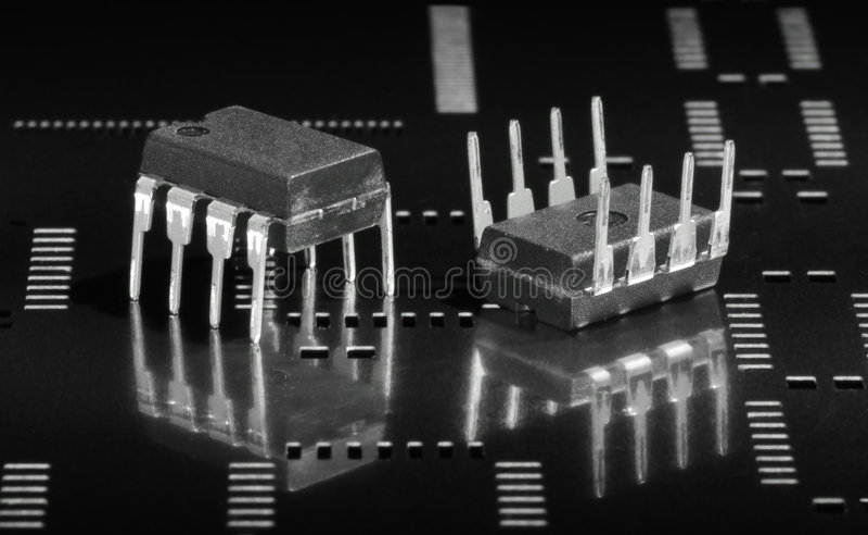 Mikrochips stockfotografie