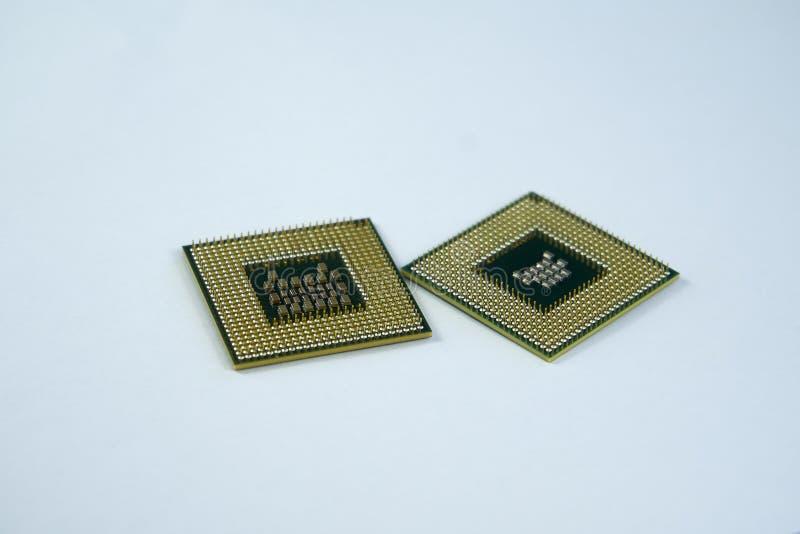 Mikrochips för centralenhetCPU-processorer arkivbild