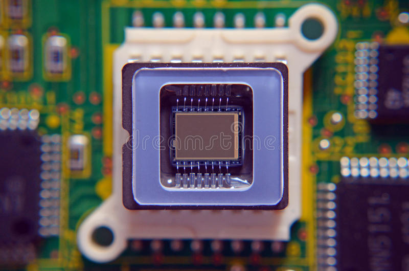 Mikrochipsvideoavkännare royaltyfri bild