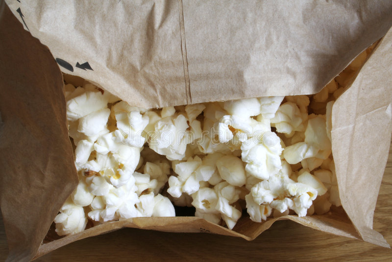 mikrofalówka popcorn obraz stock