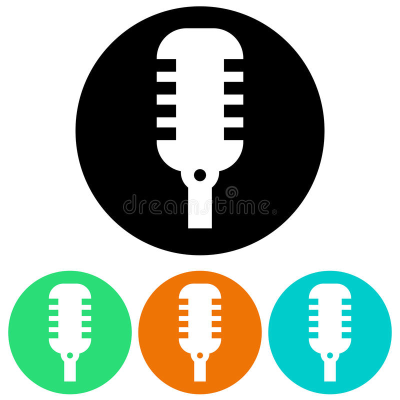 Mikrofonów guziki ilustracji
