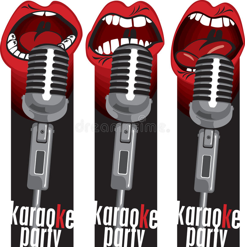 Mikrofonów usta royalty ilustracja