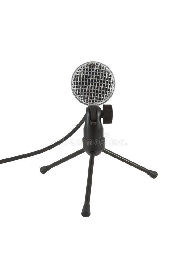 Mikrofon auf dem Standplatz lizenzfreie stockfotos