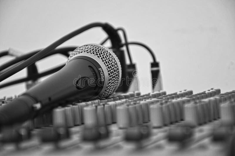 Mikrofon auf einem Soundboard