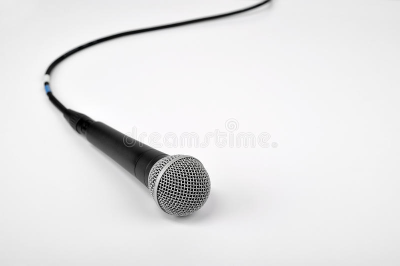 Mikrofon auf Weiß stockbilder