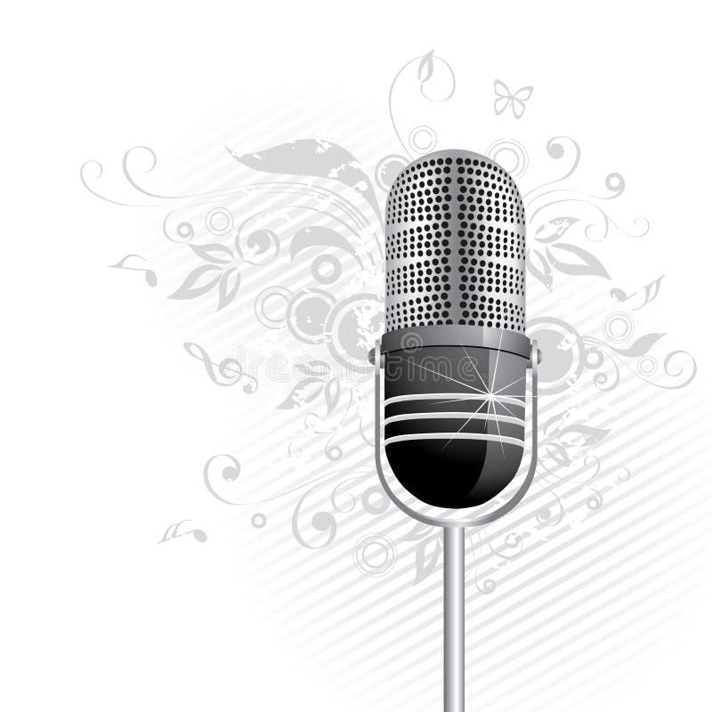 mikrofon graficzny światła ilustracji