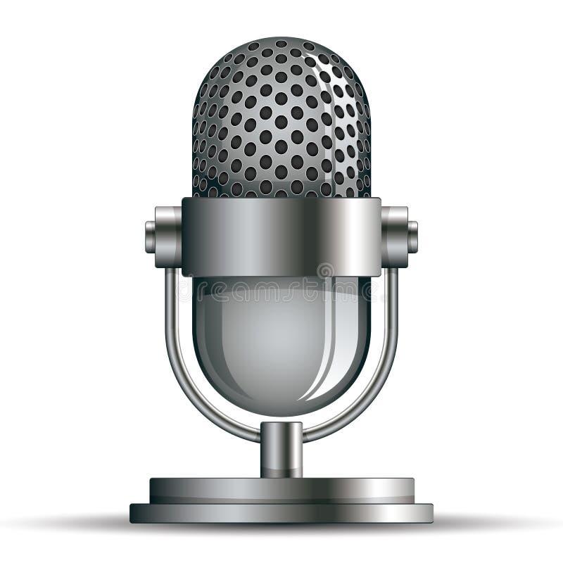Mikrofon ikona ilustracja wektor