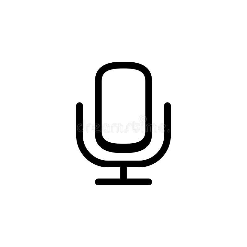 Mikrofon ikona Element prosta ikona dla stron internetowych, sieć projekt, wisząca ozdoba app, ewidencyjne grafika Gęsta kreskowa royalty ilustracja