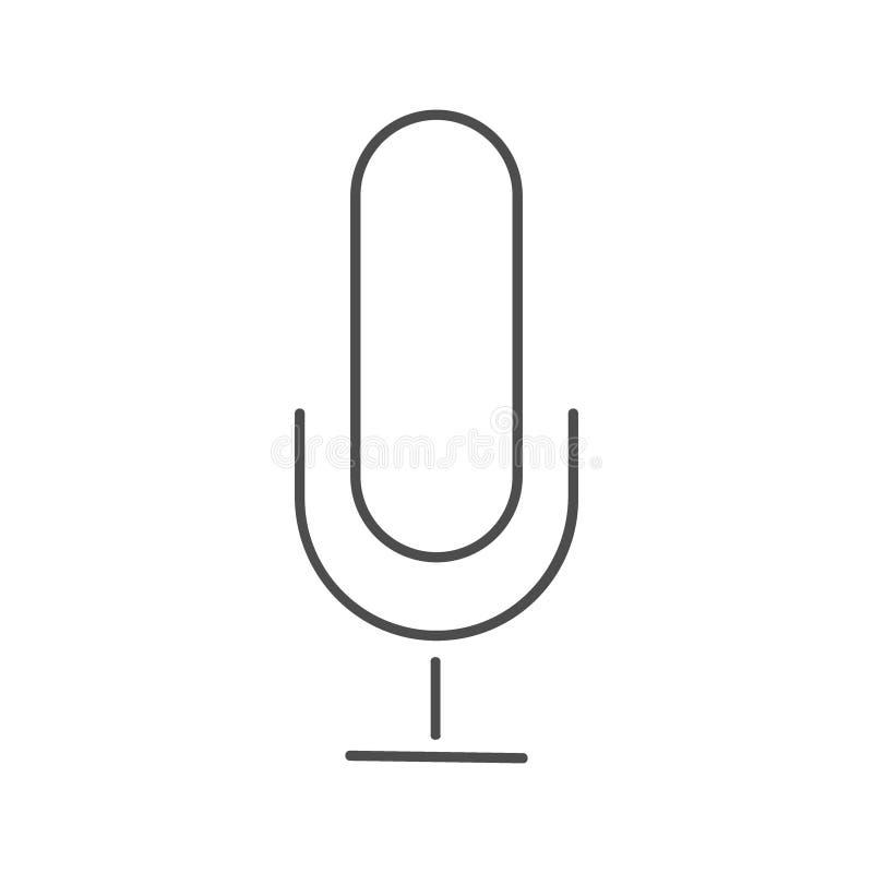 Mikrofon ikona, mikrofon ikony wektor w modnym mieszkanie stylu odizolowywającym na białym tle, mikrofon ikony wizerunek ilustracja wektor