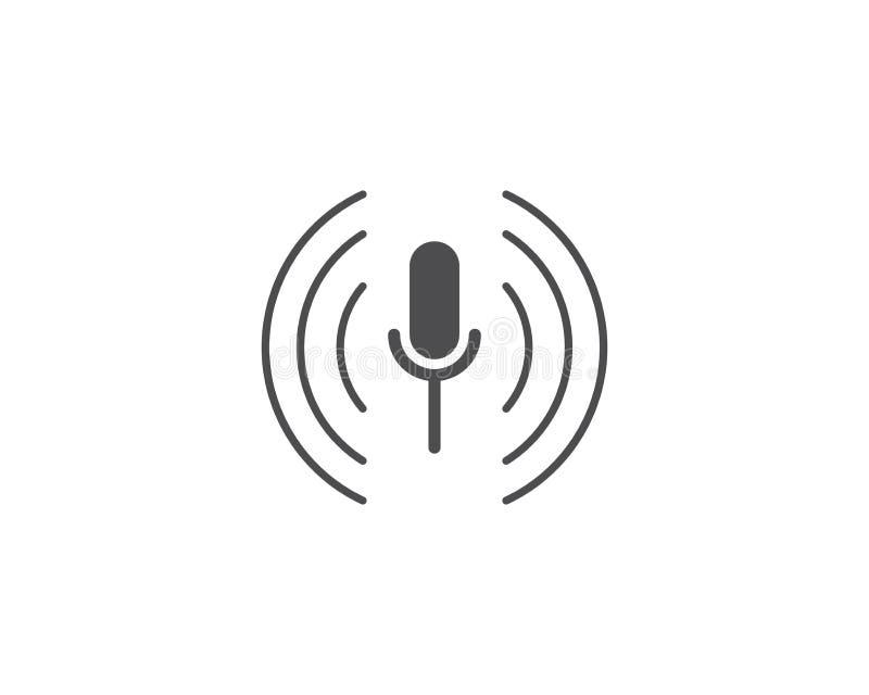Mikrofon ikona ilustracji