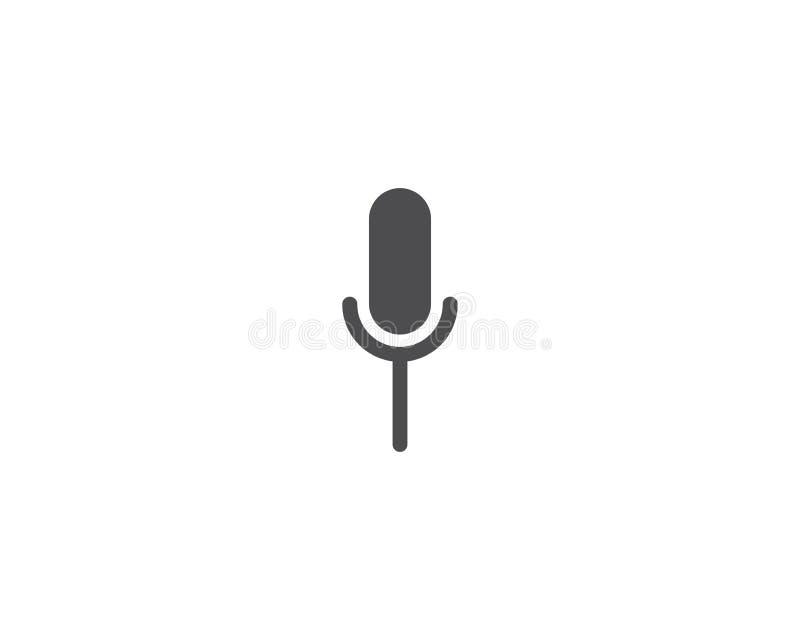 Mikrofon ikona royalty ilustracja
