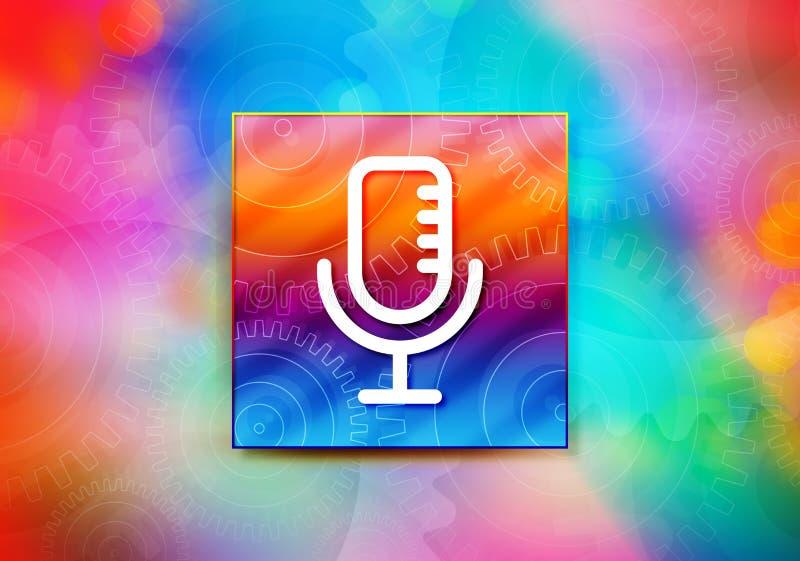 Mikrofon ikony tła bokeh projekta abstrakcjonistyczna kolorowa ilustracja royalty ilustracja