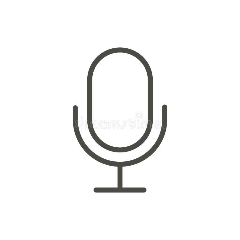 Mikrofon ikony wektor Kreskowy dokumentacyjny symbol ilustracji