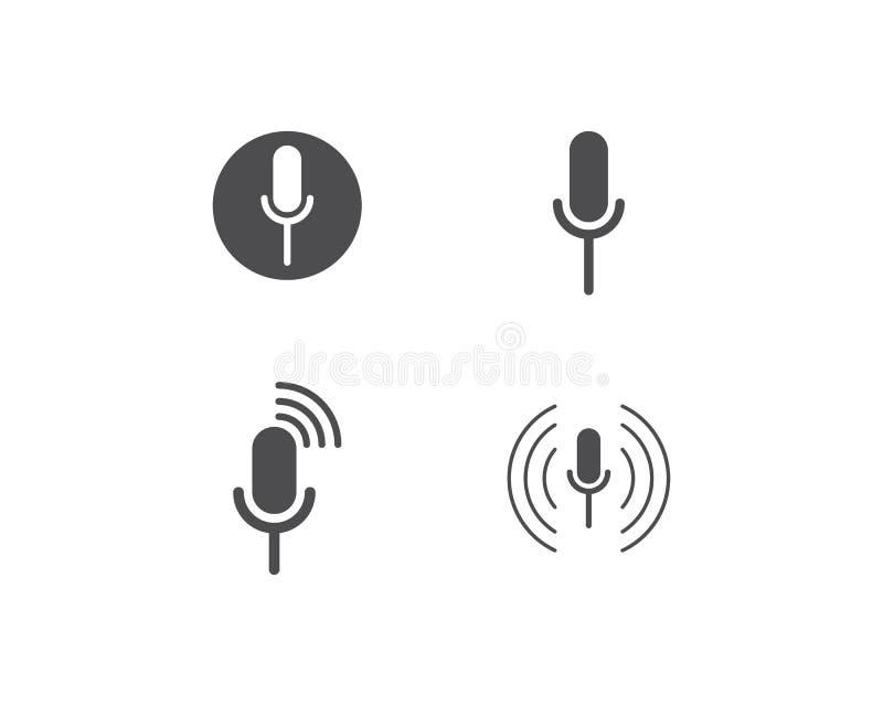 Mikrofon ikony wektor royalty ilustracja
