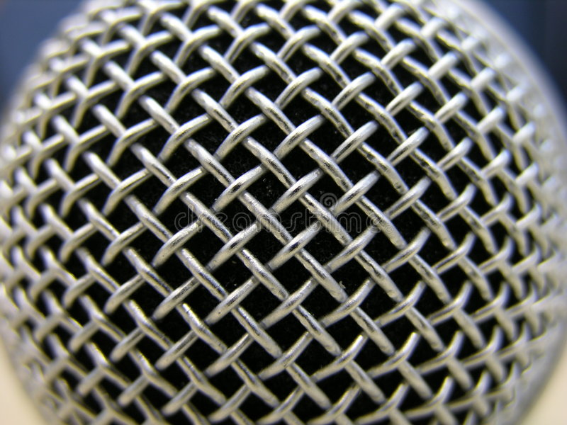 Mikrofon-Makro stockfoto