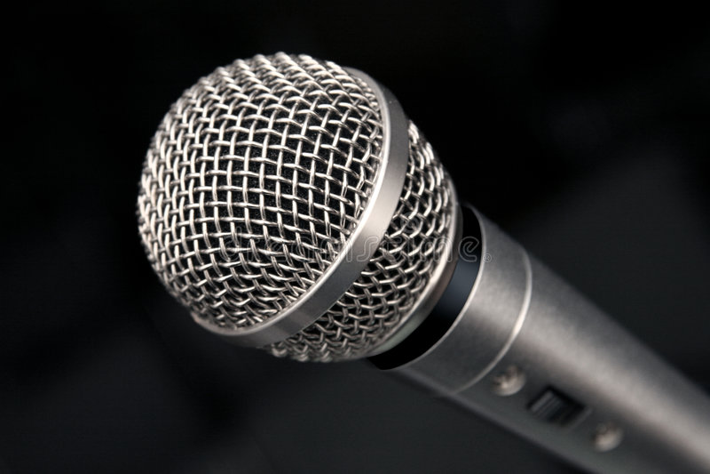 mikrofon makro obraz stock