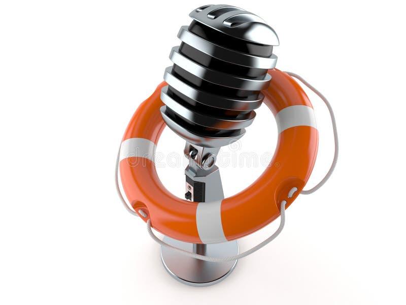 Mikrofon mit Lebenboje stock abbildung