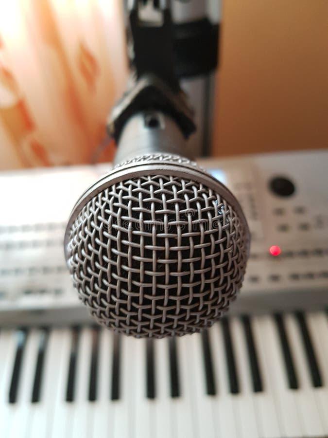 Mikrofon på ställningen arkivbilder