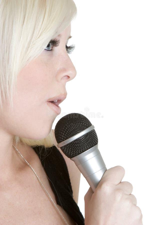 Mikrofon-Person stockbilder
