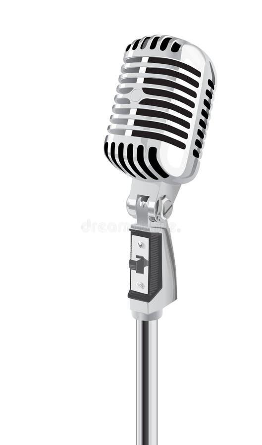 mikrofon retro royalty ilustracja