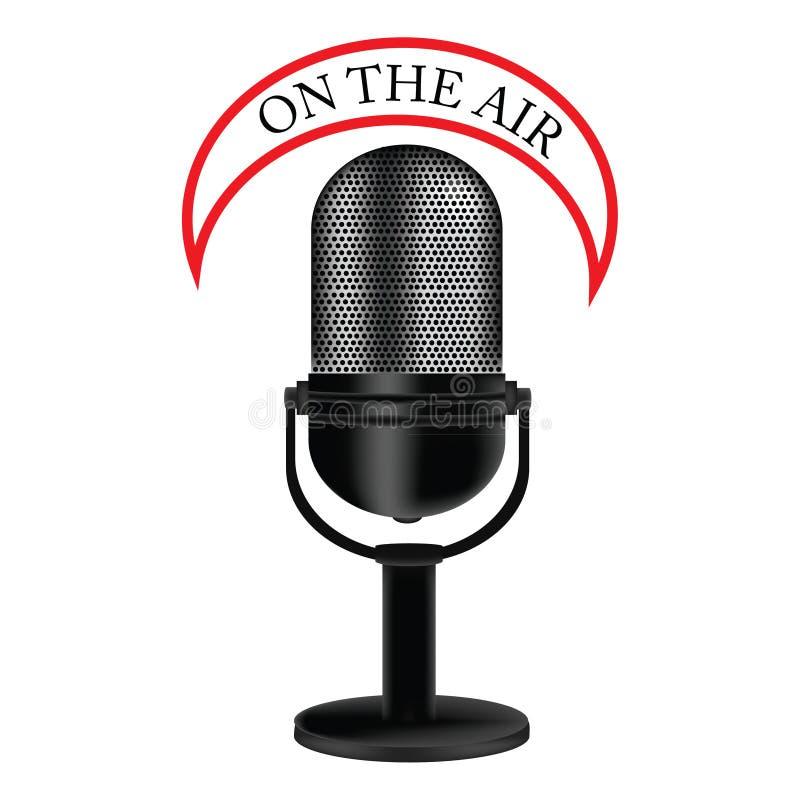 mikrofon retro ilustracji
