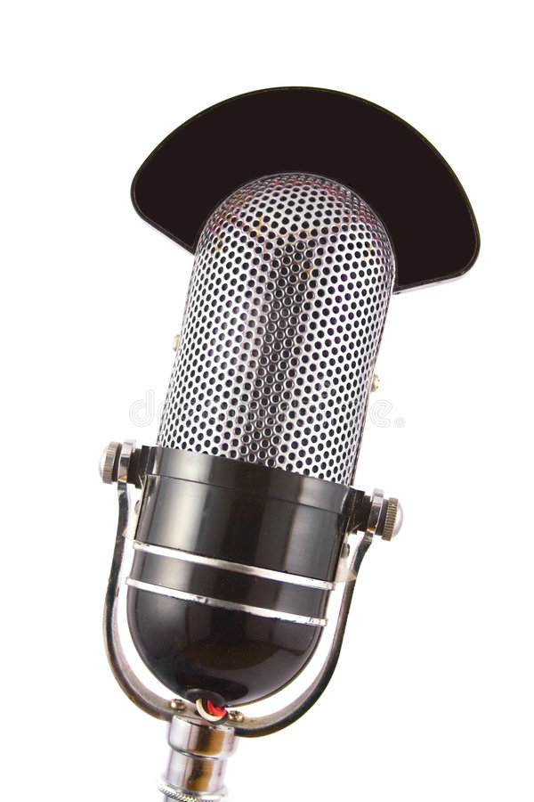 mikrofon retro zdjęcia stock