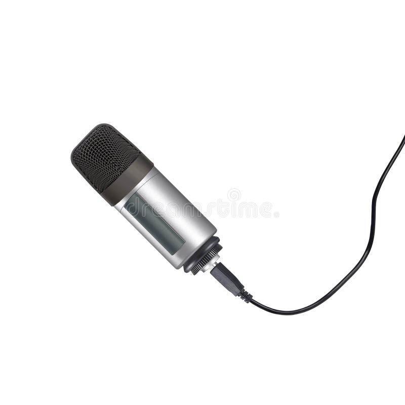 Mikrofon som isoleras på viten arkivfoto