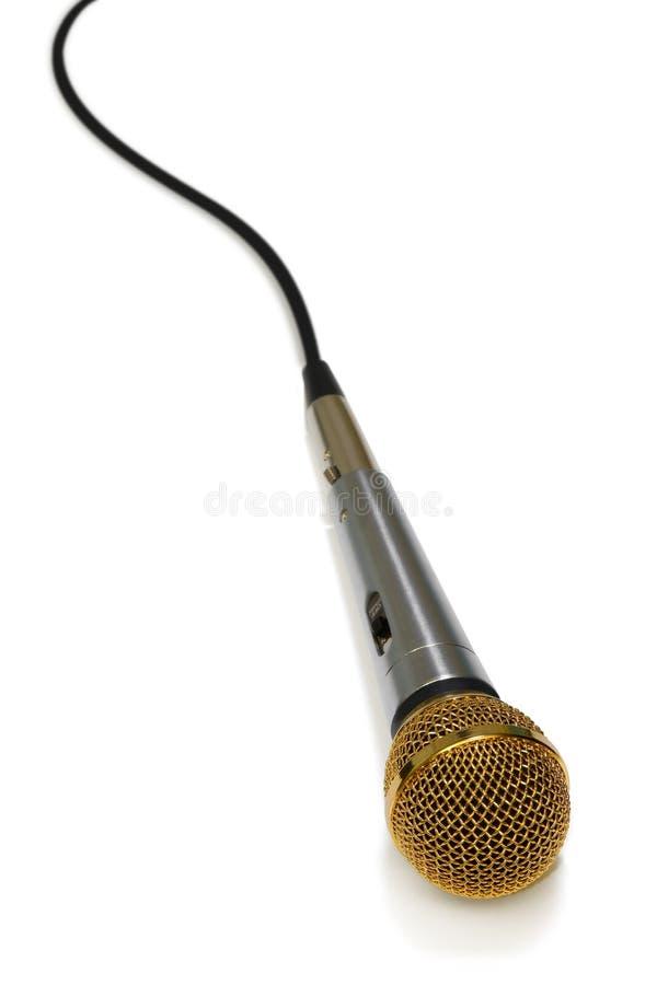 Mikrofon und Seilzug lizenzfreies stockfoto