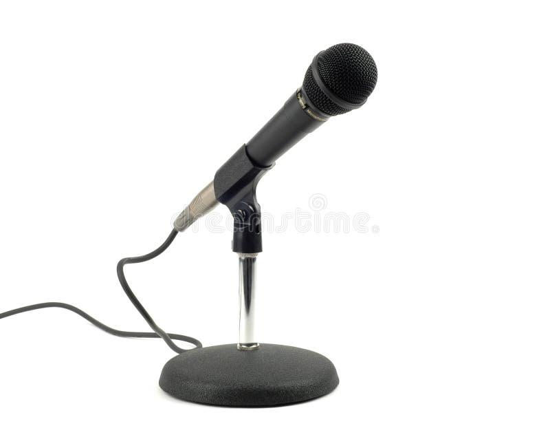 Mikrofon und Standplatz lizenzfreie stockfotos