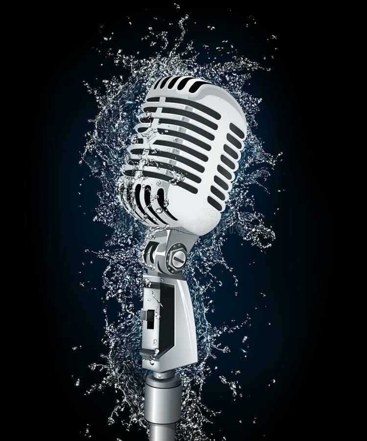 mikrofon woda royalty ilustracja