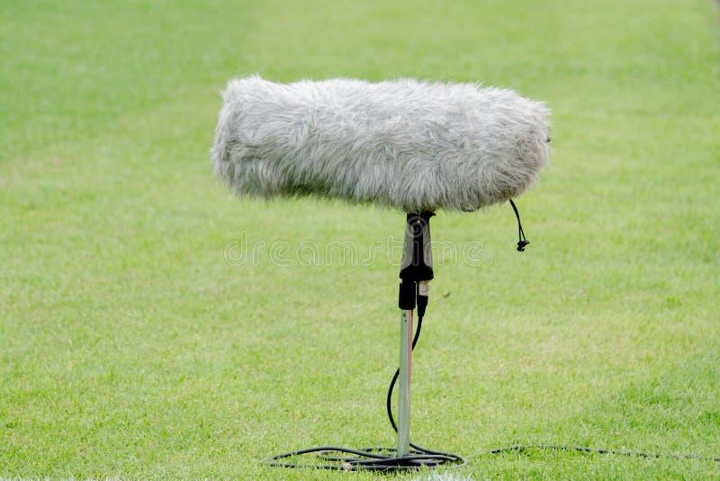 Mikrofonbang för TV bor arkivfoto