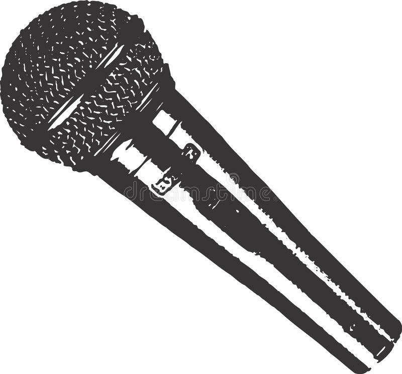 Mikrofonclipkunst lizenzfreie abbildung