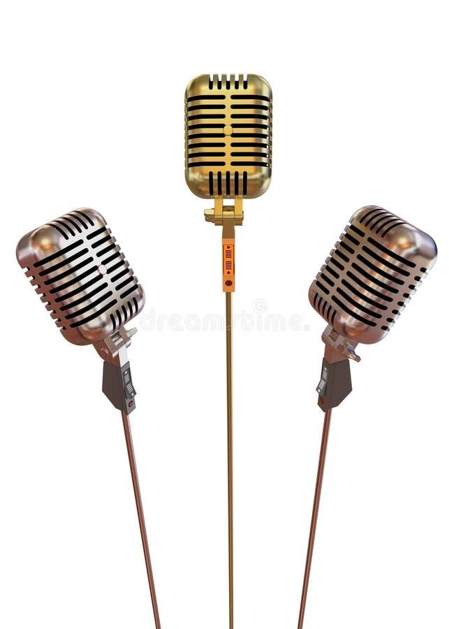 mikrofoner vektor illustrationer