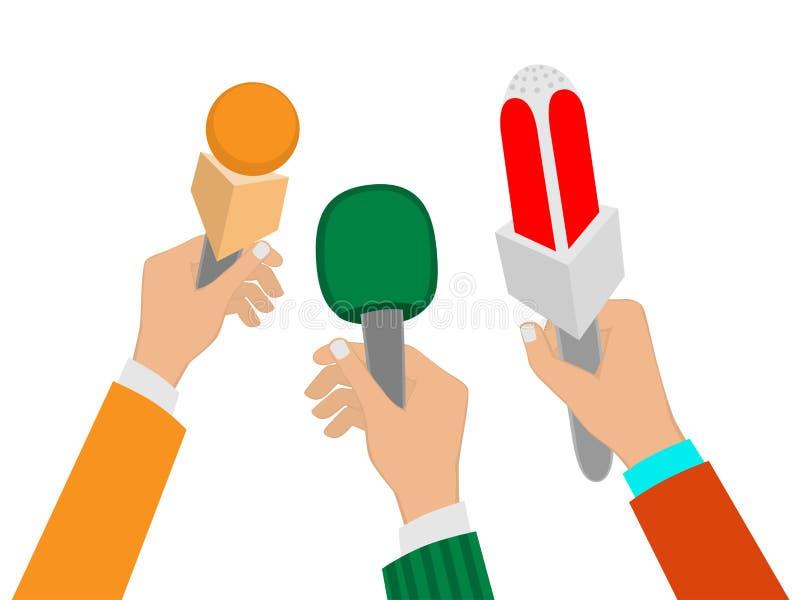 mikrofoner royaltyfri illustrationer