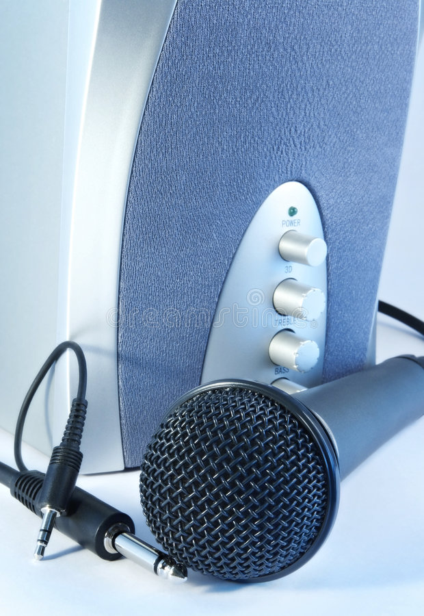 mikrofonhögtalare arkivbild