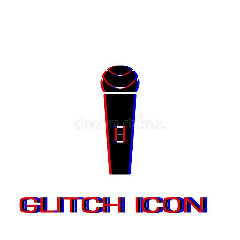 Mikrofonikone flach vektor abbildung