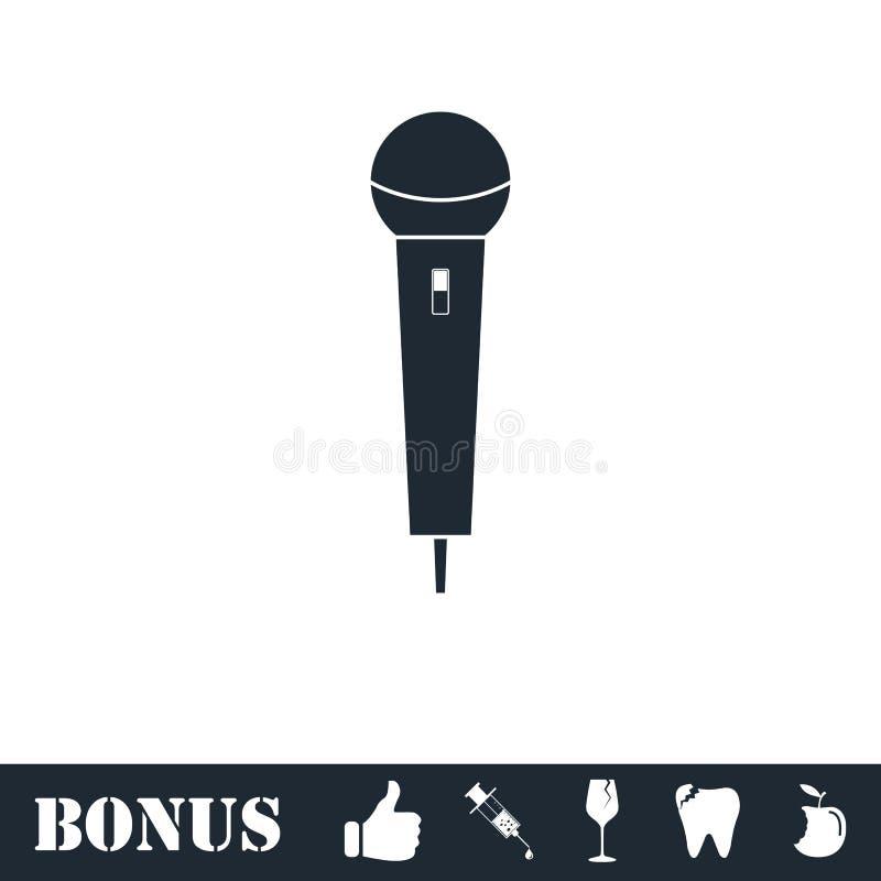 Mikrofonikone flach lizenzfreie abbildung