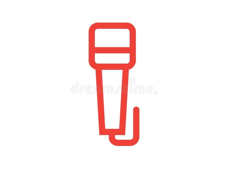 Mikrofonlinje f?rgvektorsymbol royaltyfri bild