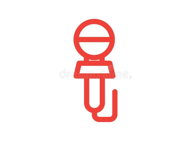Mikrofonlinje f?rgvektorsymbol royaltyfri fotografi