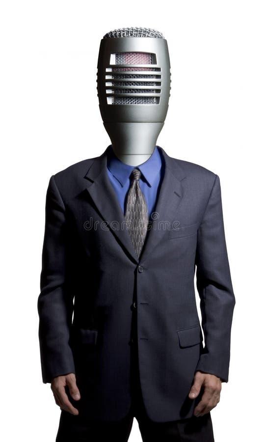 Mikrofonman arkivfoton