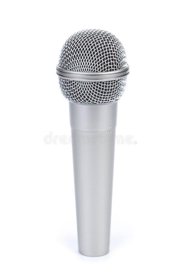 mikrofonsilver royaltyfri bild