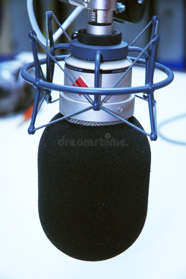 mikrofonstudio arkivfoton