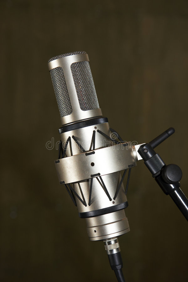 mikrofonstudio arkivbild