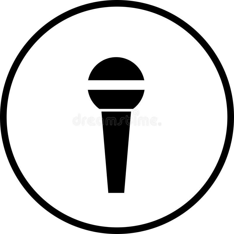 Mikrofonsymbol vektor abbildung. Illustration von elektronik - 6253291